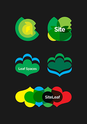 Site Leaf and Leaf Spaces logo concepts