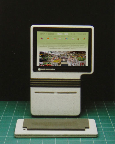 Market Fresh site on prototype Apple computer
