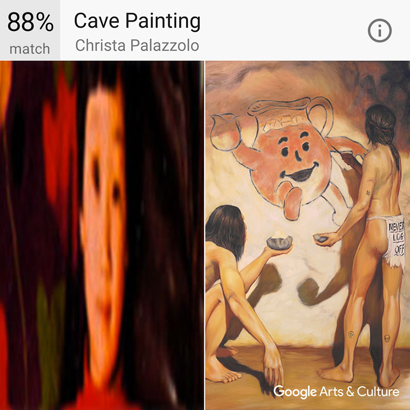 Haoyan of America Google Arts & Culture matched with Christa Palazzolo's Cave Painting