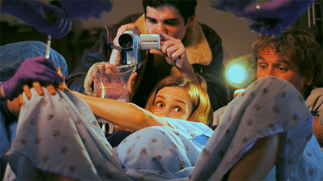 Cole filming Eliza's birth in Emanuel and the Fear's I Believe video